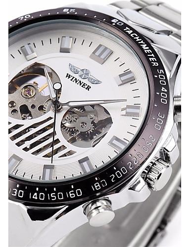 WINNER Férfi Karóra   mechanikus Watch Üreges gravírozás Rozsdamentes acél  Zenekar Luxus Ezüst   Automatikus önfelhúzós 4861158 2018 –  22.99 0c52971dcc