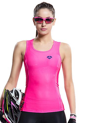 povoljno Odjeća za vožnju biciklom-SANTIC Žene Bez rukávů Tenk - Pink Bicikl Mellény / Biciklistička majica, Prozračnost, Quick dry, Ultraviolet Resistant Jednobojni / Visoka elastičnost / Napredne tehnike šivanja