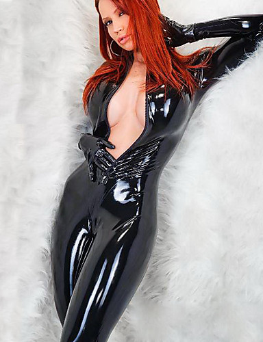 cheap Sexy Costumes-Women's Fifty Shades Sexy Uniforms More Uniforms Sex Zentai Suits Cosplay Costume Catsuit Solid Colored Leotard / Onesie / Leather