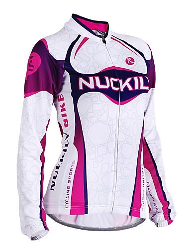 povoljno Biciklističke majice-Nuckily Žene Dugih rukava Biciklistička majica purpurna boja Dungi Bicikl Biciklistička majica Majice Brdski biciklizam biciklom na cesti Vjetronepropusnost Prozračnost Anatomski dizajn Sportski