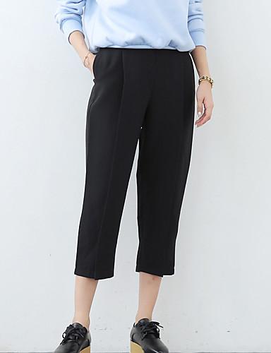 6df1a4409c7cd Women s Solid Black Wide Leg Pants