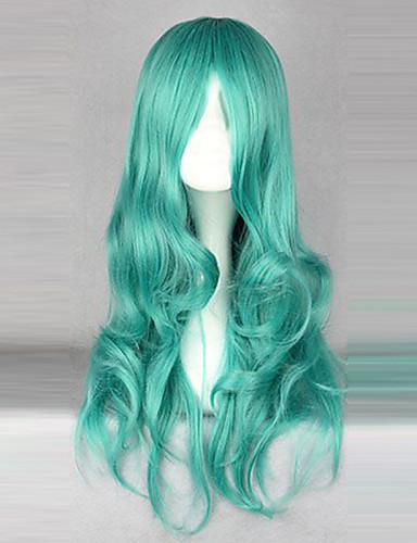 povoljno Maske i kostimi-Sailor Moon Sailor Neptune Cosplay Wigs Žene 26 inch Otporna na toplinu vlakna Zelen Anime