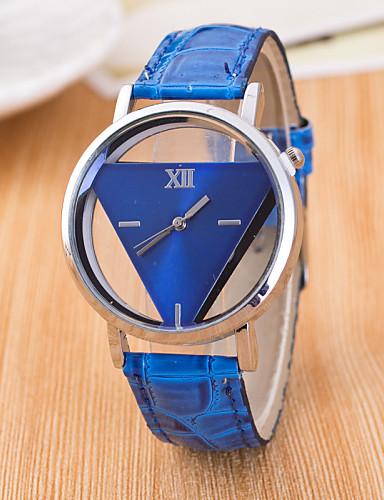 b3526db10beb Mujer Reloj de Pulsera Cuarzo Cuero Sintético Acolchado Negro   Blanco    Azul Huecograbado   Analógico damas Casual Moda - Azul Oscuro Rojo Rosa  5279390 ...