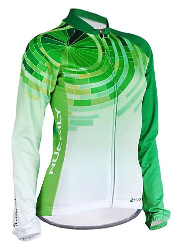 povoljno Biciklističke majice-Nuckily Žene Dugih rukava Biciklistička majica Zelen Dungi Bicikl Biciklistička majica Majice Brdski biciklizam biciklom na cesti Vjetronepropusnost Prozračnost Anatomski dizajn Sportski Poliester