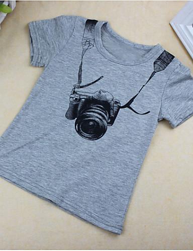 preiswerte Ausverkauf-Baby Jungen Kurzarm Baumwolle T-Shirt Grau