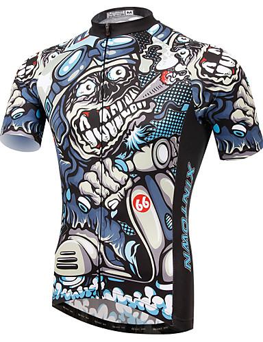 povoljno Odjeća za vožnju biciklom-XINTOWN Muškarci Kratkih rukava Biciklistička majica Orao Bicikl Biciklistička majica Majice Brdski biciklizam biciklom na cesti Prozračnost Quick dry Ultraviolet Resistant Sportski Elastan Terilen