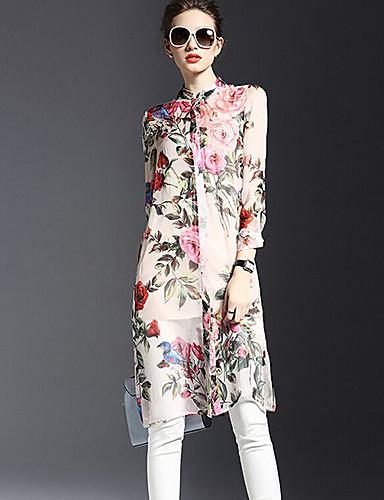 00c988f69c3b Γυναικεία Φόρεμα Κομψό στυλ street Πουκάμισο Φλοράλ Πάνω από το Γόνατο  Κολάρο Πουκαμίσου Πολυεστέρας 4961583 2019 –  24.99