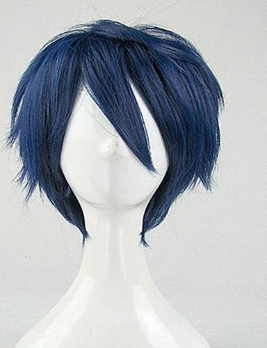 preiswerte Pflege & Haar-Cosplay Perücken Synthetische Perücken Perücken Locken Locken Perücke Kurz Blau Synthetische Haare Damen Blau hairjoy