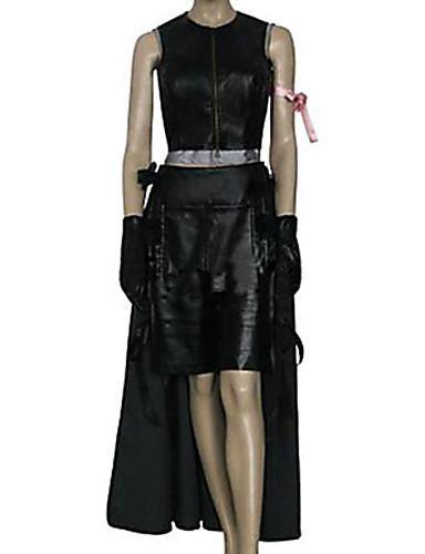 povoljno Maske i kostimi-Inspirirana Final Fantasy Tifa Lockhart Video igra Cosplay nošnje Cosplay Suits Jednobojni Bez rukávů Top Suknja Kratke hlače Kostimi
