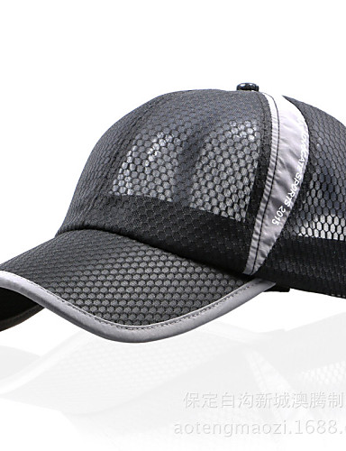 preiswerte Kleidung Accessoires-Wanderhut Ball Cap Hut Sonnenschutz Atmungsaktiv Schützend Baumwolle Nylon Frühling für Herrn Damen Unisex Baseball Draußen Blau