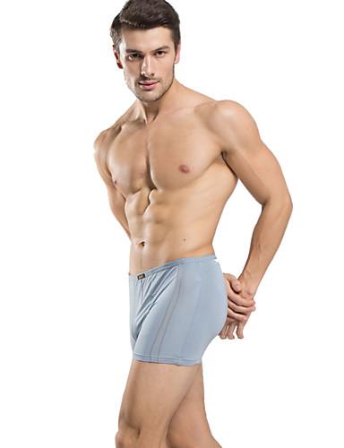 preiswerte Unterwäsche für Herren-Herrn Solide - Kurze Boxershorts 3 / box Mittlere Taillenlinie