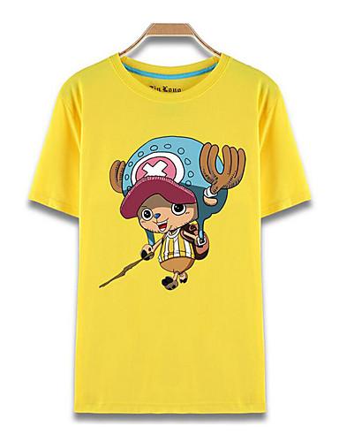 povoljno Maske i kostimi-Inspirirana One Piece Tony Tony Chopper Anime Cosplay nošnje Japanski Cosplay majica Print Kratkih rukava Top Za Muškarci / Žene