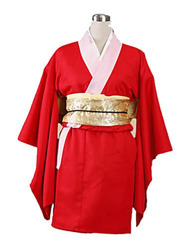 povoljno Maske i kostimi-Inspirirana Gintama Kagura Anime Cosplay nošnje Japanski Cosplay Suits / Kimono Jednobojni Dugih rukava Yukata / Rukavice / Donje rublje Za Žene / Saten