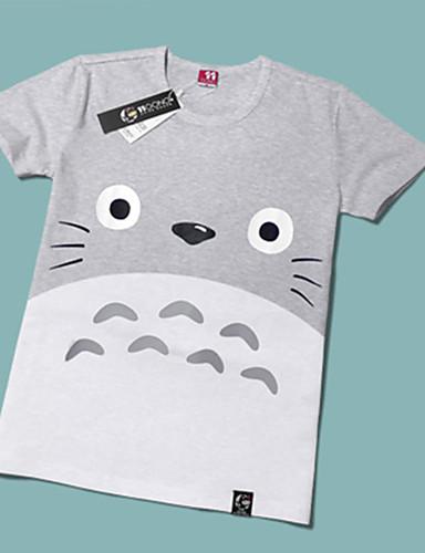 povoljno Anime cosplay-Inspirirana Moj susjed Totoro Mačka Anime Cosplay nošnje Japanski Cosplay majica Print Kratkih rukava T-majica Za Muškarci / Žene