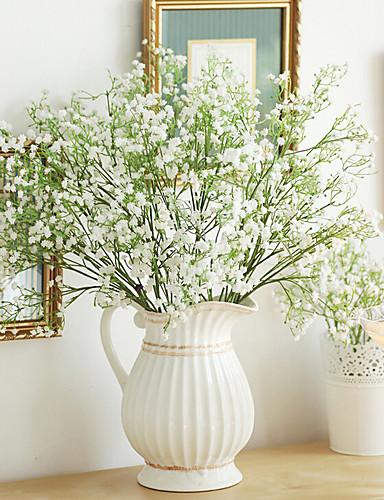 preiswerte Bettwäsche-Sets & Kopfkissen-Künstliche Blumen 1 Ast Moderner Stil Schleierkraut Tisch-Blumen