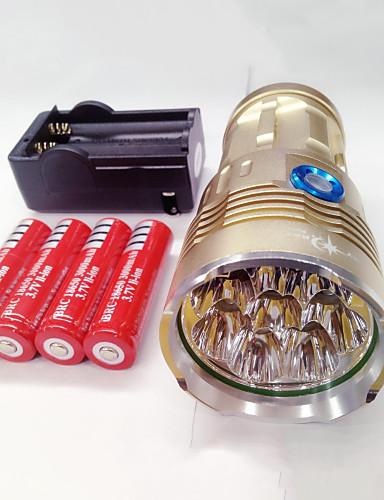 economico Totale Svendita fuori tutto-Torce LED Impermeabile Ricaricabile 9600lm LED LED 8 emettitori 3 Modalità di illuminazione con batterie e caricabatterie Impermeabile Ricaricabile Visione notturna Campeggio / Escursionismo