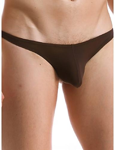 voordelige Herenondergoed & Zwemkleding-Synthetische zijde Effen - Super Sexy Slip Heren 1 Stuk