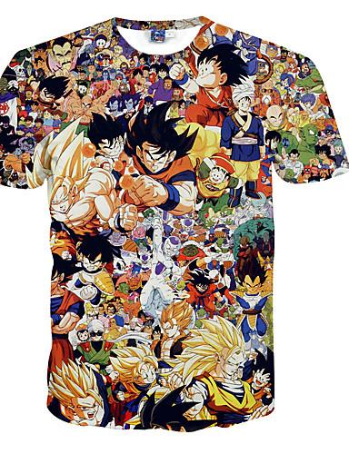 povoljno Anime cosplay-Inspirirana Dragon Ball Son Goku Anime Cosplay nošnje Japanski Cosplay majica Na točkice / Print Kratkih rukava T-majica Za Muškarci
