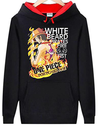povoljno Maske i kostimi-Inspirirana One Piece Monkey D. Luffy Anime Cosplay nošnje Japanski cosplay Hoodies Print Dugih rukava Top Za Muškarci