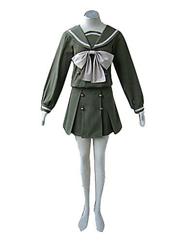 povoljno Maske i kostimi-Inspirirana Shakugan no Shana Shana Anime Cosplay nošnje Japanski Cosplay Suits / School Uniforms Kolaž Dugih rukava Top / Suknja / Ribbon Za Žene