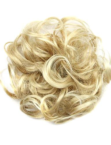 preiswerte Perücken & Haarteile-Synthetische Perücken Chignons / Haarknoten Locken Klassisch Klassisch Locken Stufenhaarschnitt Perücke Kurz Blonde Synthetische Haare Damen Updo