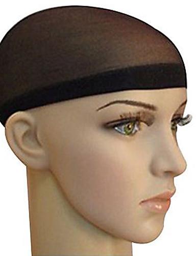 preiswerte Pflege & Haar-Wig Accessories Fasergemisch Perückenhauben Flechten Perlen 2 pcs Alltag Klassisch Schwarz Braun