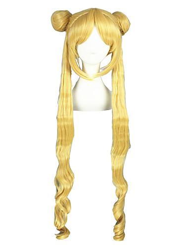 levne Cosplay paruky-Sailor Moon Sailor Moon Cosplay Paruky Pánské Dámské 40 inch Horkuvzdorné vlákno Zlatá Anime