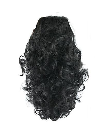 preiswerte Pflege & Haar-Mit Clip Pferdeschwanz Elasthan Bärenkralle / Kieferclip Synthetische Haare Haarstück Haar-Verlängerung Locken