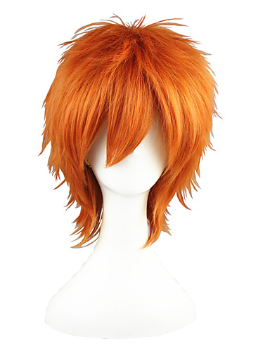 voordelige Cosplay Pruiken-Prince of Tennis Kid the Phantom Thief Cosplaypruiken Heren Dames 14 inch(es) Hittebestendige vezel Oranje Anime
