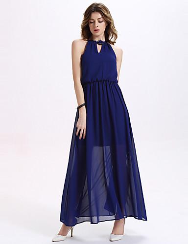 fe0c1f308 Mulheres Vestido Swing Sensual / Boho Sólido Longo Gola Redonda Poliéster  de 5035557 2019 por $17.99
