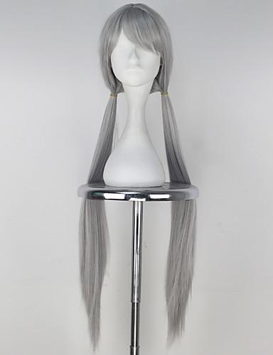 voordelige Cosplay Pruiken-Cosplay Judy Cosplaypruiken Dames 36 inch(es) Hittebestendige vezel Zilver Anime