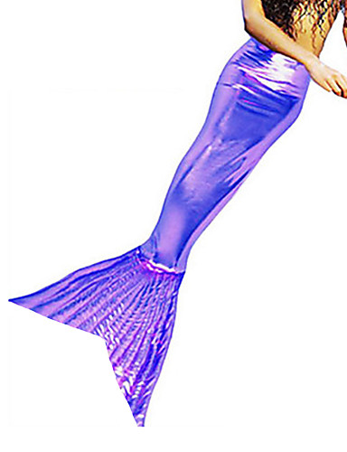 povoljno Maske i kostimi-Rep Sirene Aqua Queen Aqua Princess Cosplay Nošnje Kostim za party Muškarci Božić Halloween Karneval Festival / Praznik Shiny Metallic Lycra Zlatan / Fuschia / Tamno zelena Karneval kostime Jednobojni