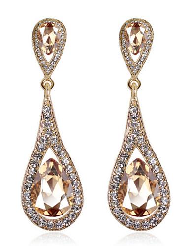preiswerte Hochzeiten & Feste-Damen Kristall Tropfen-Ohrringe Zirkonia Ohrringe Schmuck Königsblau / Burgund / Champagner Für 1pc