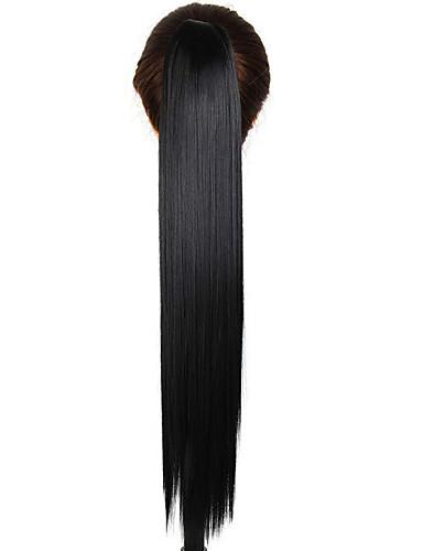 preiswerte Perücken & Haarteile-Pferdeschwanz Synthetische Haare Haarstück Haar-Verlängerung Glatt Alltag / Gerade