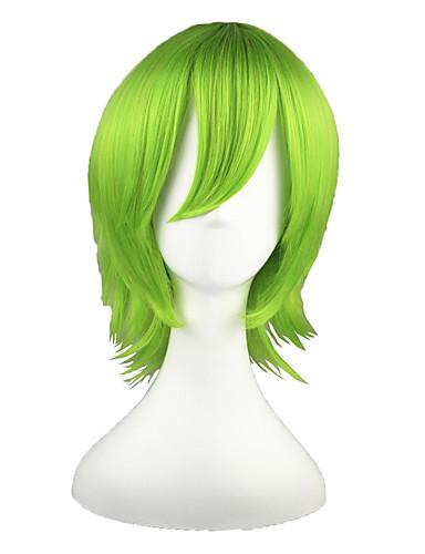 povoljno Maske i kostimi-Reborn! Yoruichi Shihoin Cosplay Wigs Muškarci Žene 14 inch Otporna na toplinu vlakna Zelen Anime