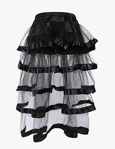 [$21.66] Women\'s Lace Not Specified Underbust Corset / Overbust Corset /  Corset Dresses - Patchwork Black S M L / Plus Size