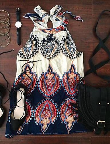 preiswerte Kleider für die Ferien-Damen Festtage Boho Lose Kleid - Druck Übers Knie Halter