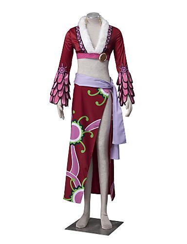 povoljno Maske i kostimi-Inspirirana One Piece Boa Hancock Anime Cosplay nošnje Japanski Cosplay Suits Cvjetni print Dugih rukava Kaput / Suknja / Struk Pribor Za Žene