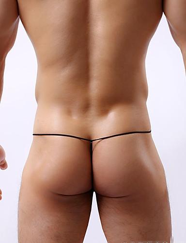 levne Pánské prádlo a plavky-Pánské Barevné bloky Spodní prádlo G-string Bavlna Nízký pas
