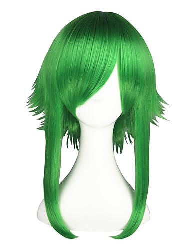 povoljno Maske i kostimi-Vocaloid Gumi Cosplay Wigs Muškarci Žene 22 inch Otporna na toplinu vlakna Zelen Anime