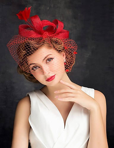 cheap Wedding Accessories-Tulle / Feather Fascinators with 1 Special Occasion Headpiece