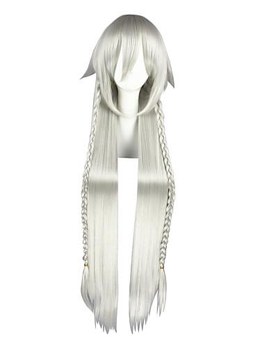 voordelige Cosplay Pruiken-Black Butler Alice Cosplaypruiken Heren Dames 44 inch(es) Hittebestendige vezel Zilver Anime