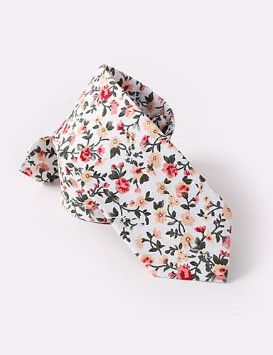 preiswerte Hochzeiten & Feste-weißen Blumen dünne Krawatten Baumwolle