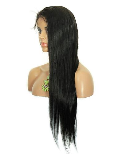 povoljno Perike s ljudskom kosom-Ljudska kosa Lace Front Perika stil Brazilska kosa Ravan kroj Perika Žene Kratko Srednja dužina Dug Perike s ljudskom kosom CARA