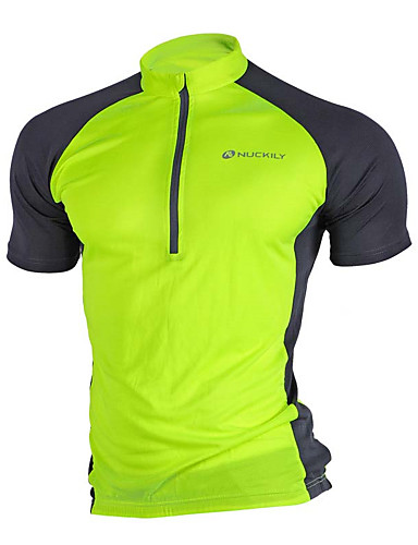 cheap Cycling Jerseys-Nuckily Men's Short Sleeve Cycling Jersey Mesh Red Blue Grey Bike Jersey Top Mountain Bike MTB Road Bike Cycling Breathable Quick Dry Moisture Wicking Sports Clothing Apparel / High Elasticity