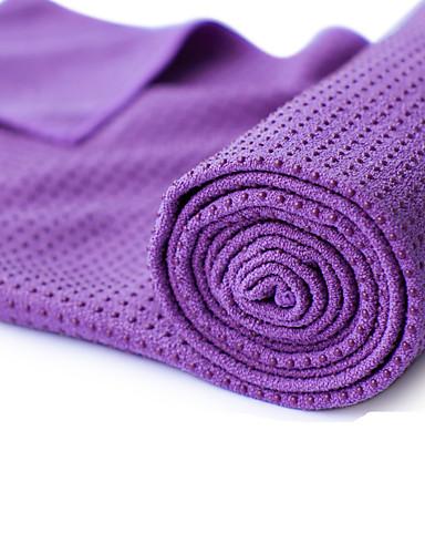 povoljno Vježbanje, fitness i joga-Ručnik za jogu Odor Free Eco-friendly Protiv klizanja mikrovlakana za Yoga Pilates Bikram 183*63*0.5 cm purpurna boja žuta Zelen