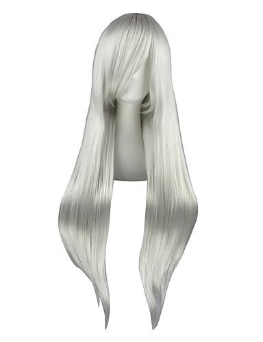 voordelige Cosplay Pruiken-Final Fantasy Sephiroth Cosplaypruiken Heren Dames 32 inch(es) Hittebestendige vezel Zilver Anime
