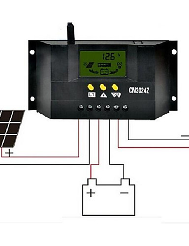 preiswerte Elektronik & Werkzeuge-cm3024z 30a 12v / 24v LCD-Flüssigkristall-Anzeige Solarregler