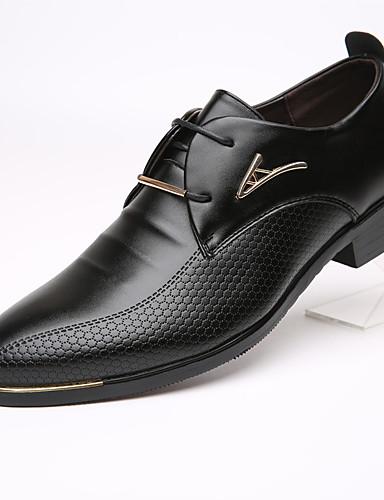 cheap 11.11 - Men's Oxfords Best Sale-Men's Formal Shoes Cowhide Spring / Fall Business Oxfords Black / Brown / EU40
