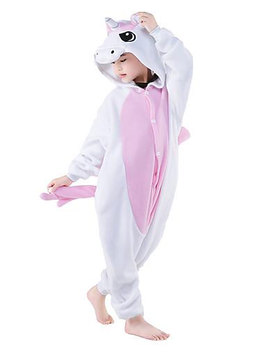 760e28b4994b Kid s Kigurumi Pajamas Unicorn Animal Onesie Pajamas Polar Fleece Pink  Cosplay For Boys and Girls Animal Sleepwear Back Zip for Toilet Cartoon  Festival ...
